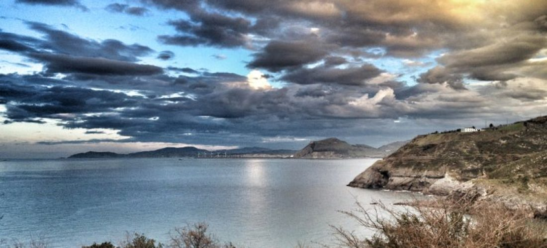 Pescando chipirones en Cantabria